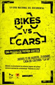 Cartel bikes vs cars, Mérida